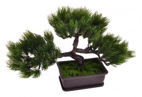 Künstlicher Bonsai-Baum im Topf 26x21x13cm Kunstpflanze Tischdeko Fensterdeko