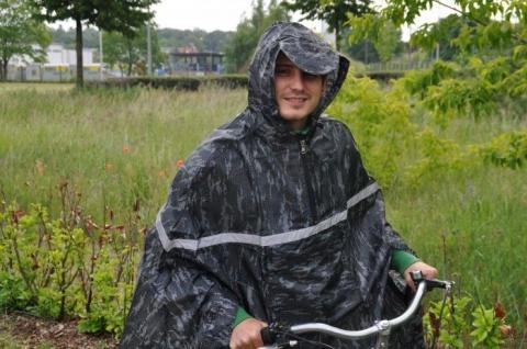 Fahrradregencape camouflage