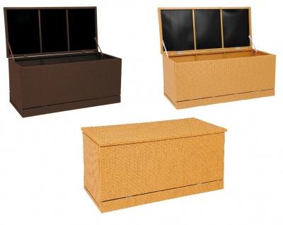 Polyrattan Gartenkissenbox Gartentruhe Auflagenbox Kissenbox Aufbewahrungsbox