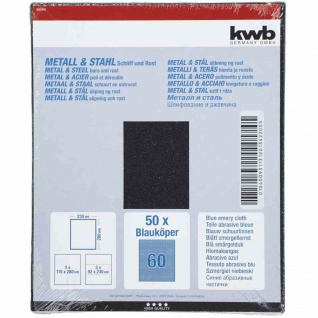 Schleifpapier Metall & Stahl K 60 (50 Bogen = 1 Pack)