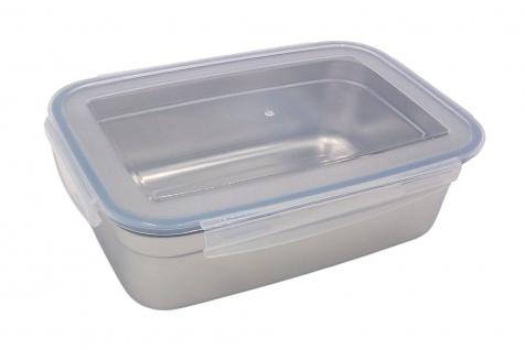Edelstahl Frischhaltedose 850ml Vorratsdose Brotdose Lunchbox Klickverschluss