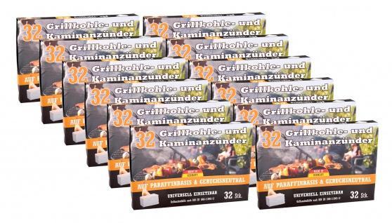 12x Kohleanzünder 32er-Pack Ofenanzünder Grillanzünder Kaminanzünder Anzünder