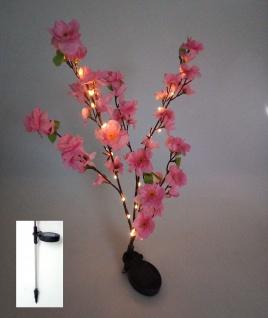 Solar LED Blütenstrauch rosa 90cm Gartenstecker Lichterstrauch Zweige Gartendeko