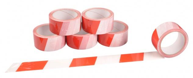 Markierungsband 66m Rot Weiß selbstklebend Bodenmarkierung Signalband Klebeband