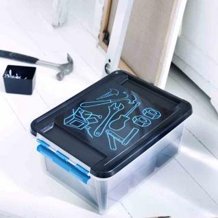 Werkbox 14l schwarz Boxen Aufbewahrung Deko Wohnen Ordnungsboxen Behälter NEU