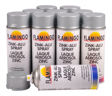 10x Zink Alu Spray grau 400 ml hitzebeständig Rostschutz Korrosion Beschichtung