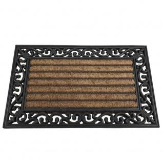 Gummimatte Impalla 45x75cm schwarz Schmutzfangmatte Türmatte Fußabtreter TOP NEU