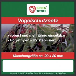 """GREEN TOWER GT Vogelschutznetz ,, Comfort"""" Vogelschutz- Netz 2x10m"""