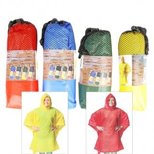 Regenponcho für Erwachsene 100x130cm Regencape Regenschutz Regenmantel Poncho