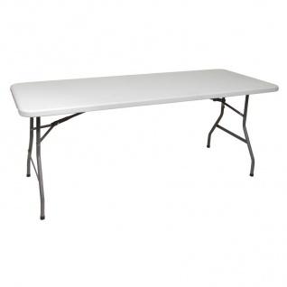 Campingtisch Klapptisch 180x75, 5 cm Koffertisch Gartentisch Partytisch Buffett