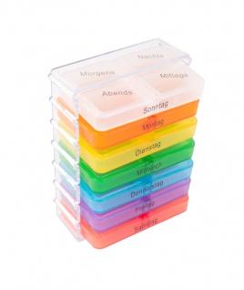 7 Tage Pillenbox Medikamentenbox Tablettenbox Pillendose Pillenturm Spender bunt