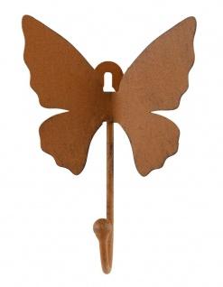 Metall Garderobenhaken Schmetterling Rostbraun Wandhaken Wandgarderobe Haken