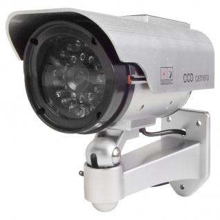 Überwachungskamera Attrappe mit LED und Solar - Vorschau 1