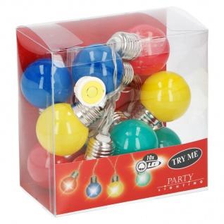 LED Lichterkette bunt 10 Glühbirnen Partylichterkette Partydeko Partylicht