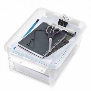 Clipbox transparent 14l Box Boxen Aufbewahrung Möbel wohnen Haushalt Ordnung NEU