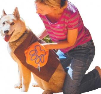 Hundepflegeset Microfaser mit Hundehandtuch + Waschhandschuh waschbar universal - Vorschau 5