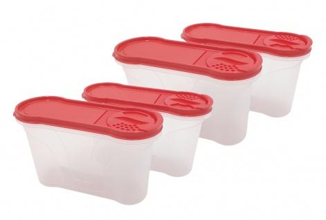 Rival Schüttdosen-Set 1, 3 Liter rot Aufbewahrungsdosen Vorratsdose Streudosen