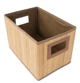 Bambus-Aufbewahrungsbox 30x20x20cm Faltbox Utensilienbox Badkorb Regalkorb Kiste