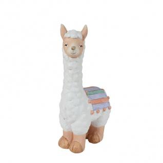 Deko Figur Lama 41cm Dekofigur Tischdeko Fensterdeko Tierfigur Kamel Dekoration