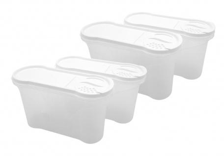 Rival Schüttdosen-Set 1, 3 Liter weiß Aufbewahrungsdosen Vorratsdose Streudosen