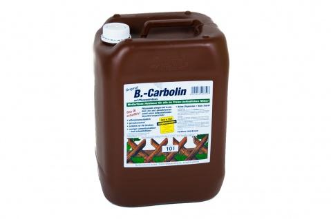 B.-Carbolin Holzlasur 10 Liter Holzschutz Zaunfarbe Holzfarbe Zaunlasur