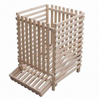 Kartoffelkiste Holz 150kg Buche Kartoffellager Obstkiste Kiste Box Aufbewahrung