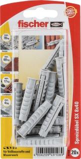 fischer Spreizdübel SX 49108 Duebel 8x40k 20st Sb49108
