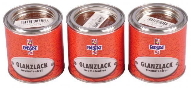 Passat Lack 3x 0, 25 L RAL 8011 nußbraun glänzend Metall Holz Glanzlack Decklack