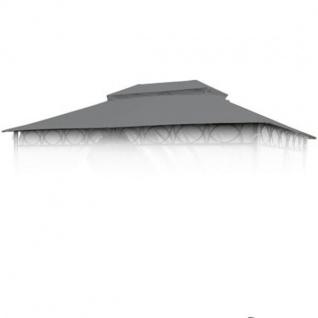Ersatzdach anthrazit für Cape Town Garten-Pavillon 4x3m Pavillondach Kaminabzug