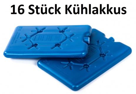Conna Bride Kühlakkus 16x200ml flach Kühlelemente Kühlbox Kühlkissen Isotasche