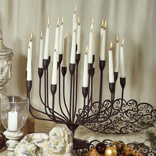 METALL-LEUCHTER Kerzenleuchter 46cm Schwarz