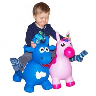 Hüpftier Kuh oder Einhorn mit Pumpe Hüpfball Hopser Pferd Pony Kinder Spielzeug - Vorschau 1