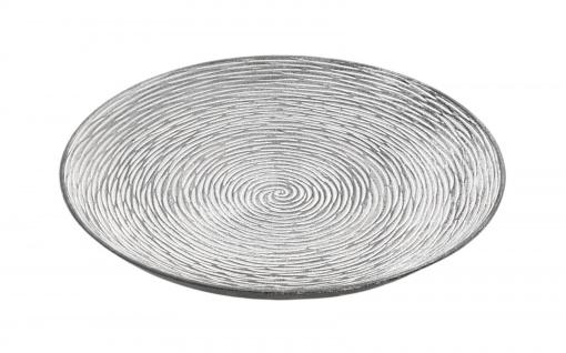Holz-Dekoteller 29, 5cm Dekoschale Kerzenteller Holzschale Tischdeko strukturiert