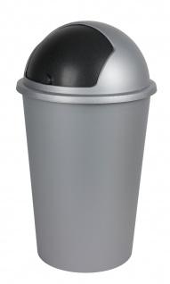 Mülleimer 50L mit Schiebedeckel Abfalleimer Müllsammler Müllbehälter Papierkorb