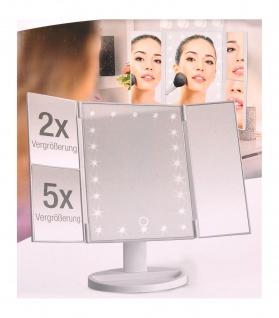 LED-Kosmetikspiegel Schminkspiegel Klappspiegel Vergrößerungsspiegel Reise USB