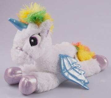 LED Einhorn mit Farbwechsel 30cm Unicorn Kuscheltier Plüschtier Stofftier Kinder - Vorschau 4