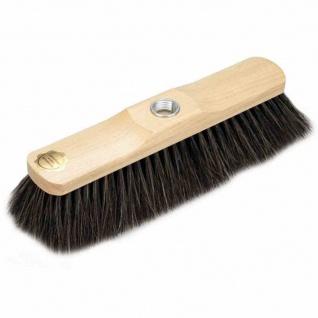 Zimmerbesen Naturhaar naturfarben 29 cm weißer Bart, lackiert