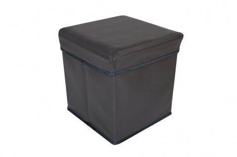 Faltbarer Sitzwürfel Aufbewahrungsbox Sitzhocker Sitzbank Truhe Fußbank Taupe