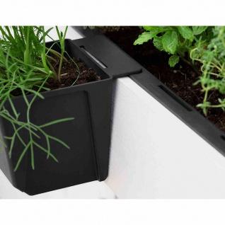 Pflanzgefäß 10cm Europaletten Blumentopf Pflanzschale Blumenkübel Beet anthrazit