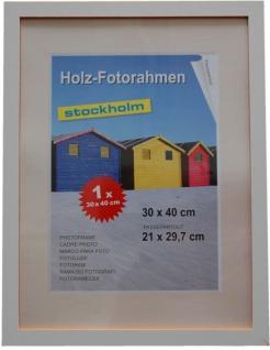 Holz Fotorahmen Bilderrahmen 30x40 cm Holzrahmen Rahmen Galerie Wanddeko - Vorschau 5