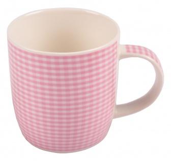 Kaffeetassen kariert aus Porzellan 375ml Kaffeebecher Kaffeetasse Teetasse Tasse - Vorschau 5