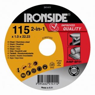 Trennscheibe 115x1x22 für Stahl+Inox Schruppscheiben Schleifscheiben Werkzeuge