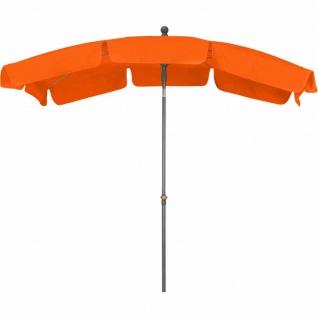 Tropico Mittelstockschirm anthrazit/terracotta 210x140cm Gestell Stahl anthrazit, Bezug 100% Polyester, 180g/m² in terracotta, Lichtschutzfaktor UPF 50+