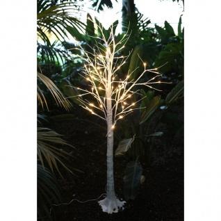 LED Lichterbaum Birkenstamm 150cm Dekobaum Gartendeko Weihnachtsdeko warmweiß