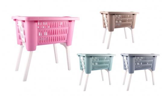 Wäschekorb mit ausklappbaren Beinen Wäschesammler Wäschetruhe Wäschebox NEU