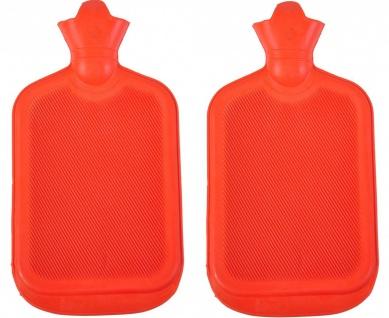 2x Wärmflasche Retro 2L Wärmetherapie Wärme Flasche Therapie Wärmekissen Gummi