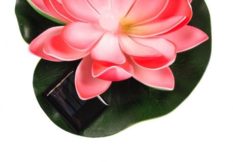 Solar LED Seerose Teichdeko Teichpflanze Wasserpflanze Gartenteich Gartendeko - Vorschau 5