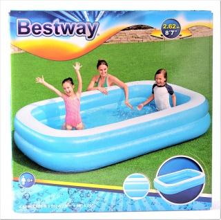 "Bestway 262 x 175 x 51 cm Family Pool "" Blue"" Swimmingpool Kinderpool Schwimmbecken Planschbecken"