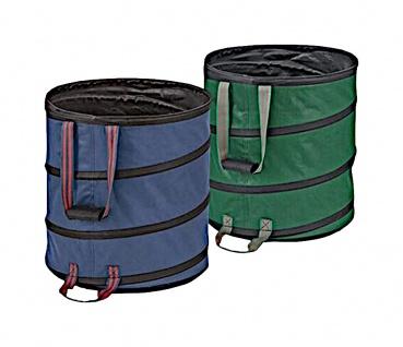 Pop-Up Garten-Abfallbehälter 85 Liter Laubsammler Gartenbehälter Abfallbehälter