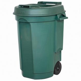 Fahrbarer Abfallbehälter 110L Farbe: grün, Maße: 55x58x81cm